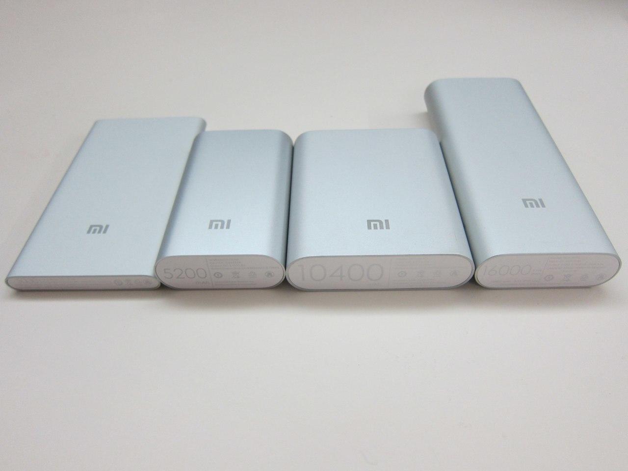 XiaoMi Power Bank 10400, 5000, 16000, 10000 mAh