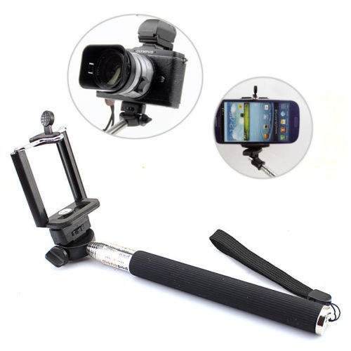 New Extendable Self Portrait Selfie Stick Monopod Holder Bluetooth Shutter Remote Key Chain For Android IOS (2)