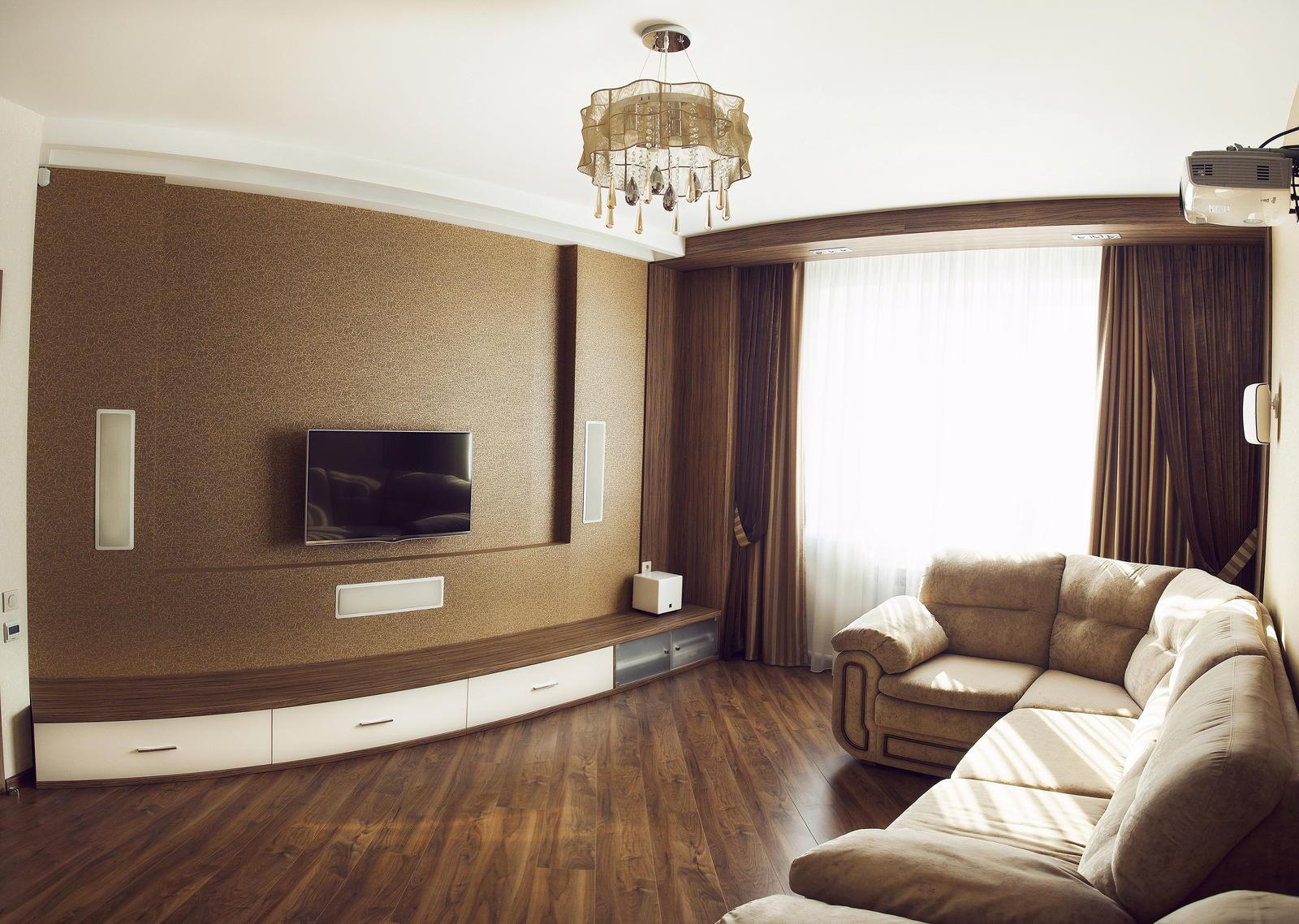 Кинозал в гостиной - одна из наших работ в Улан-Удэ 5