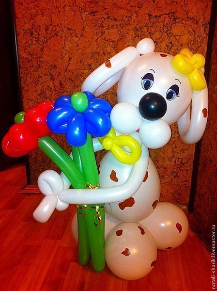 Из шариков своими руками собачка