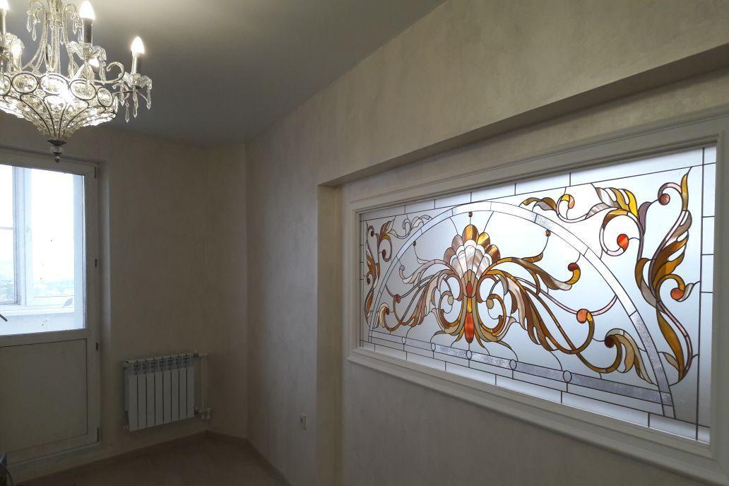 витраж в перегородке, квартира в Улан-Удэ 89025634898