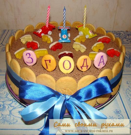 Украшение торта на день рождения ребенка своими руками 90