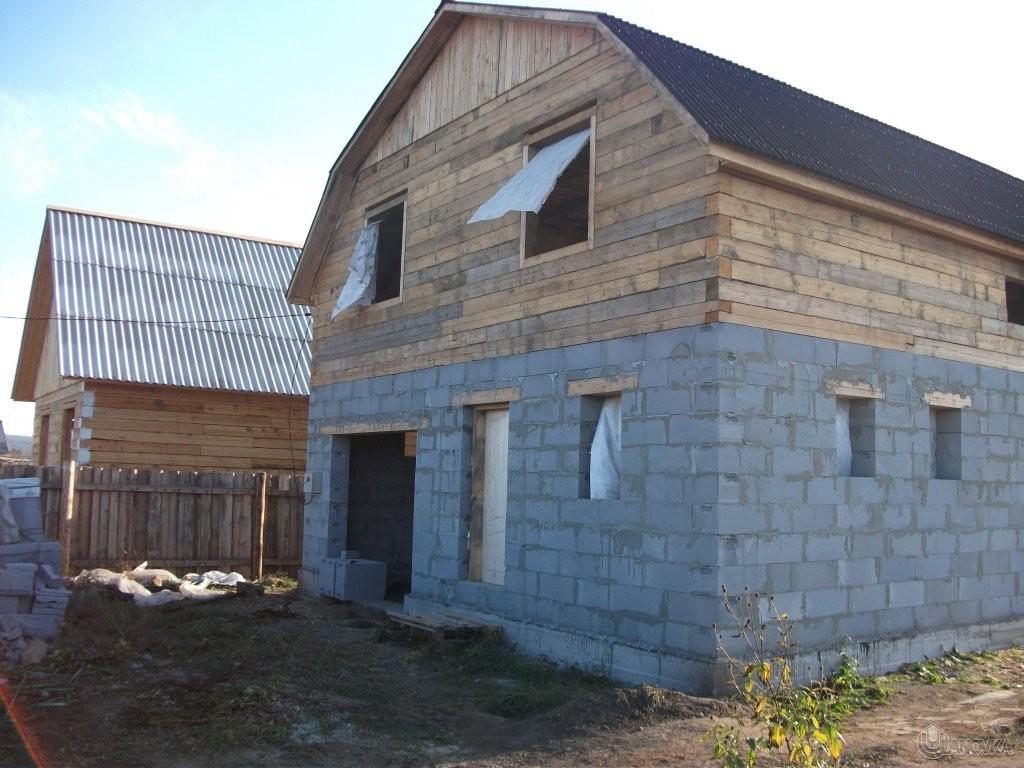 как привязать пеноблоки к деревянному дому