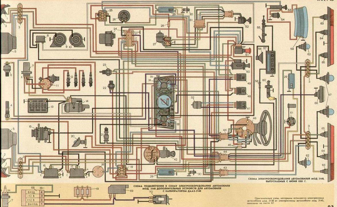 Электропроводка азлк 2141 схема